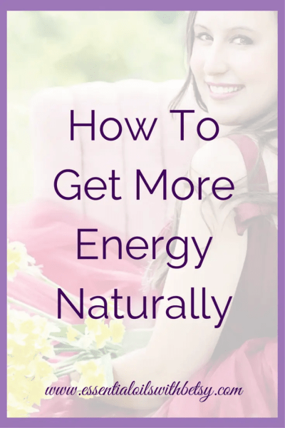 "How To Get More Energy Naturally Have you ever wondered, ""How can I get more energy naturally?"" I'm going to share my favorite natural energy boosts with you. Natural ways to have more energy are safe and effective. Get More Energy Naturally With Essential Oils Of course, my number one way to have more energy naturally is by using doTERRA essential oils! My favorite oil combination when I need more energy is Wild Orange and Grapefruit."