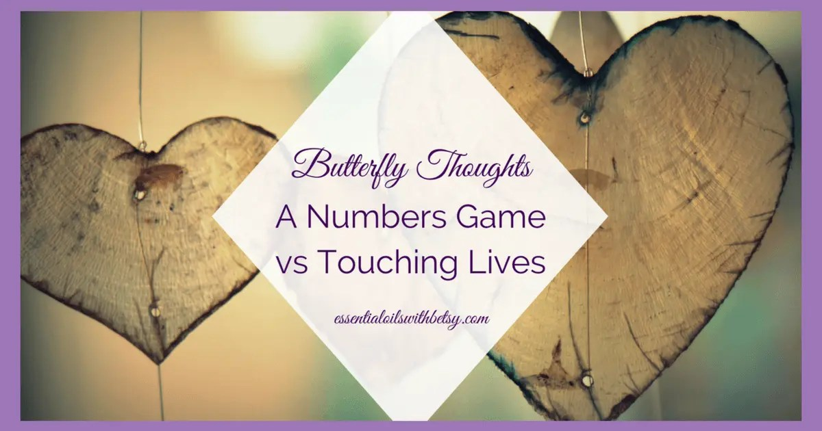 A Numbers Game vs Touching Lives