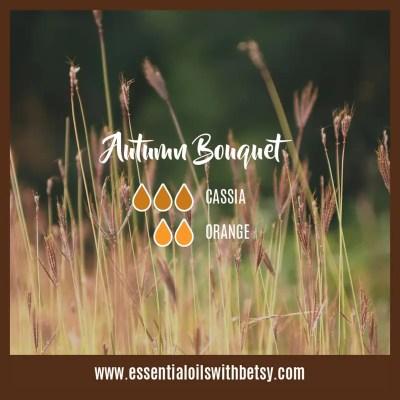 Autumn Bouquet Fall blend for diffuser: Cassia, Orange