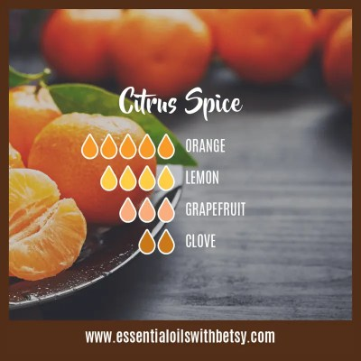 Citrus Spice Fall Diffuser Blend of essential oils: Orange, Lemon, Grapefruit, Clove