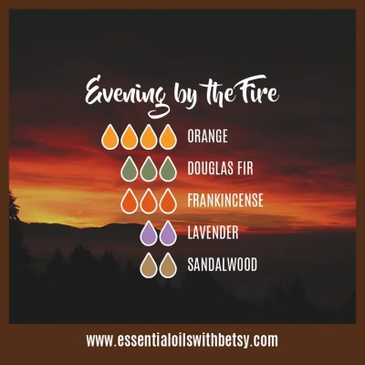 Evening By The Fire: Orange, Douglas Fir, Frankincense, Lavender, Sandalwood