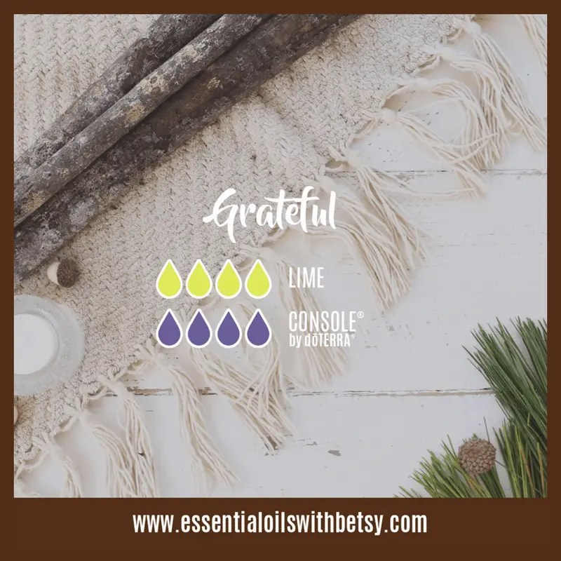Grateful essential oil diffuser blend with Console and Lime eo