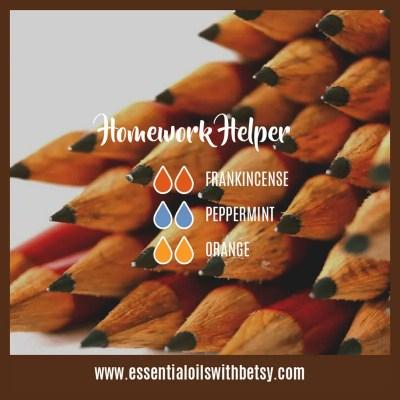 Fall Essential Oil Diffuser Blend Homework Helper: Frankincense, Peppermint, Orange