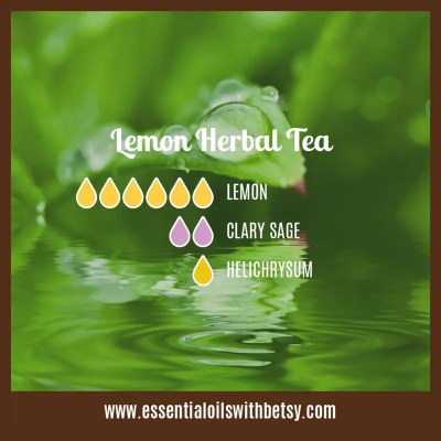 Lemon Herbal Tea Diffuser blend: Lemon, Clary Sage, Helichrysum