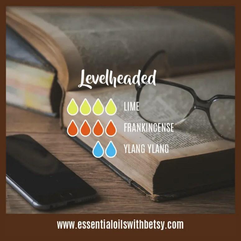 Levelheaded Essential Oil Diffuser Blend: doTERRA Lime oil, Frankincense, Ylang Ylang