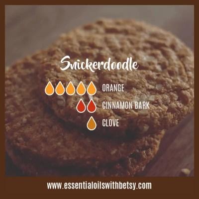 Snickerdoodle Diffuser Blend: Orange, Cinnamon, Clove