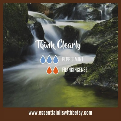 Essential Oil Fall Diffuser Blends Think Clearly: Peppermint, Frankincense