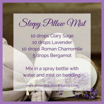 DIY Sleepy Pillow Mist For Restful Sleep Naturally Here is a little DIY recipe for you. An essential oil recipe to help you sleep better at night! This is a pillow mist you can make simply using essential oils and water! It' so easy and you will be able to make this DIY Sleepy Pillow Mist in less than 5 minutes!