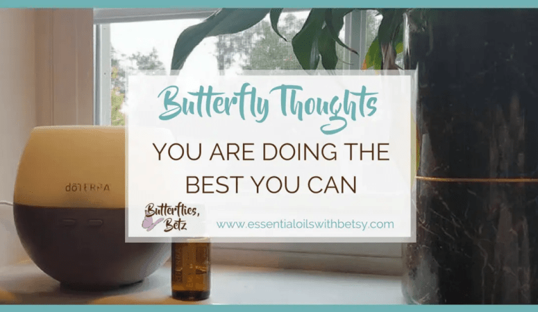 You Are Doing The Best You Can – Butterfly Thoughts by Betz