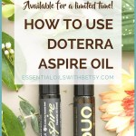 HOW TO USE DOTERRA ASPIRE OIL