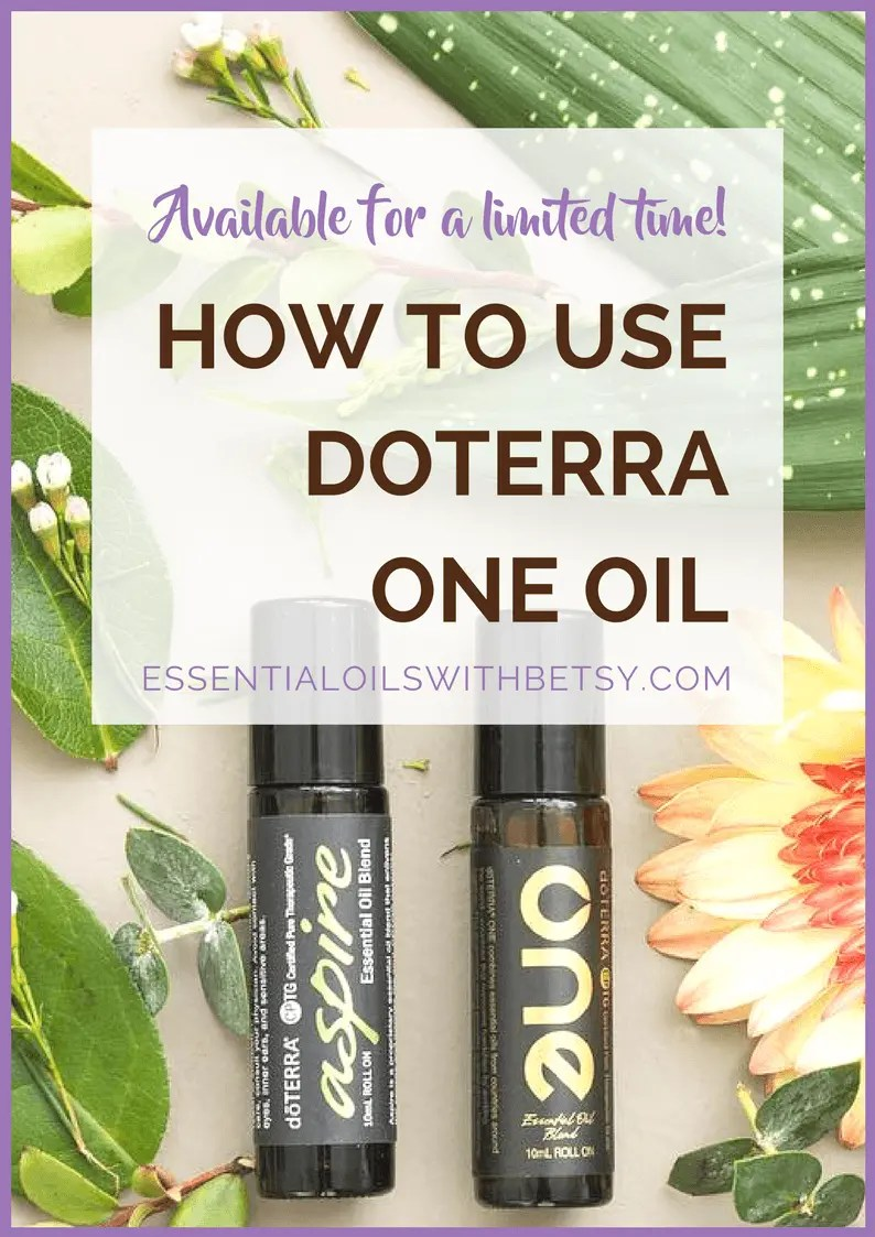 doTERRA One Blend (Limited Time Offer!) Did you see the limited time oils offer from doTERRA for March 2018?  While supplies last,  we have two new essential oil blends to purchase!  doTERRA Aspire and doTERRA One!  Perhaps you are wondering,