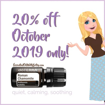 doTERRA Sale October 2019 20 percent off Roman Chamomile essential oil