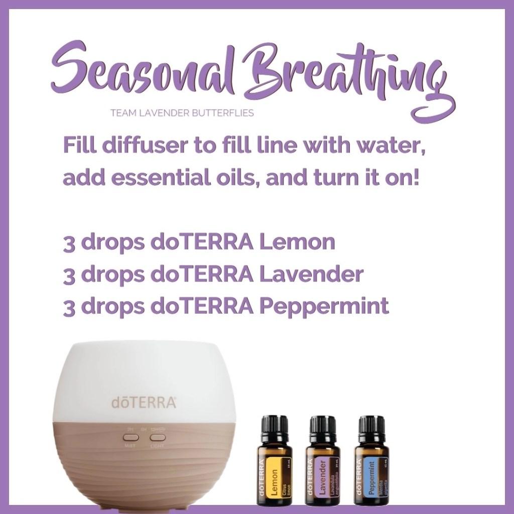 Spring Respiratory Health Oil Class Seasonal Breathing Diffuser Blend