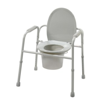 Folding Commode W/ Deep Seat, CASE OF 4