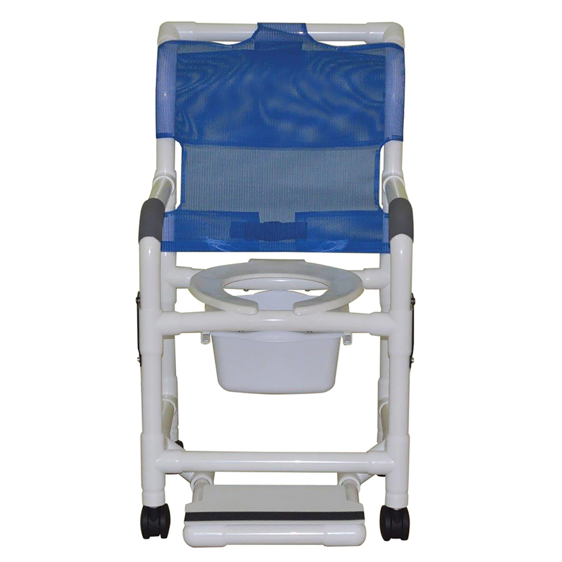 18″ Shower Chair W/ Open Front, Double Drop Arm And Slide Out Footrest