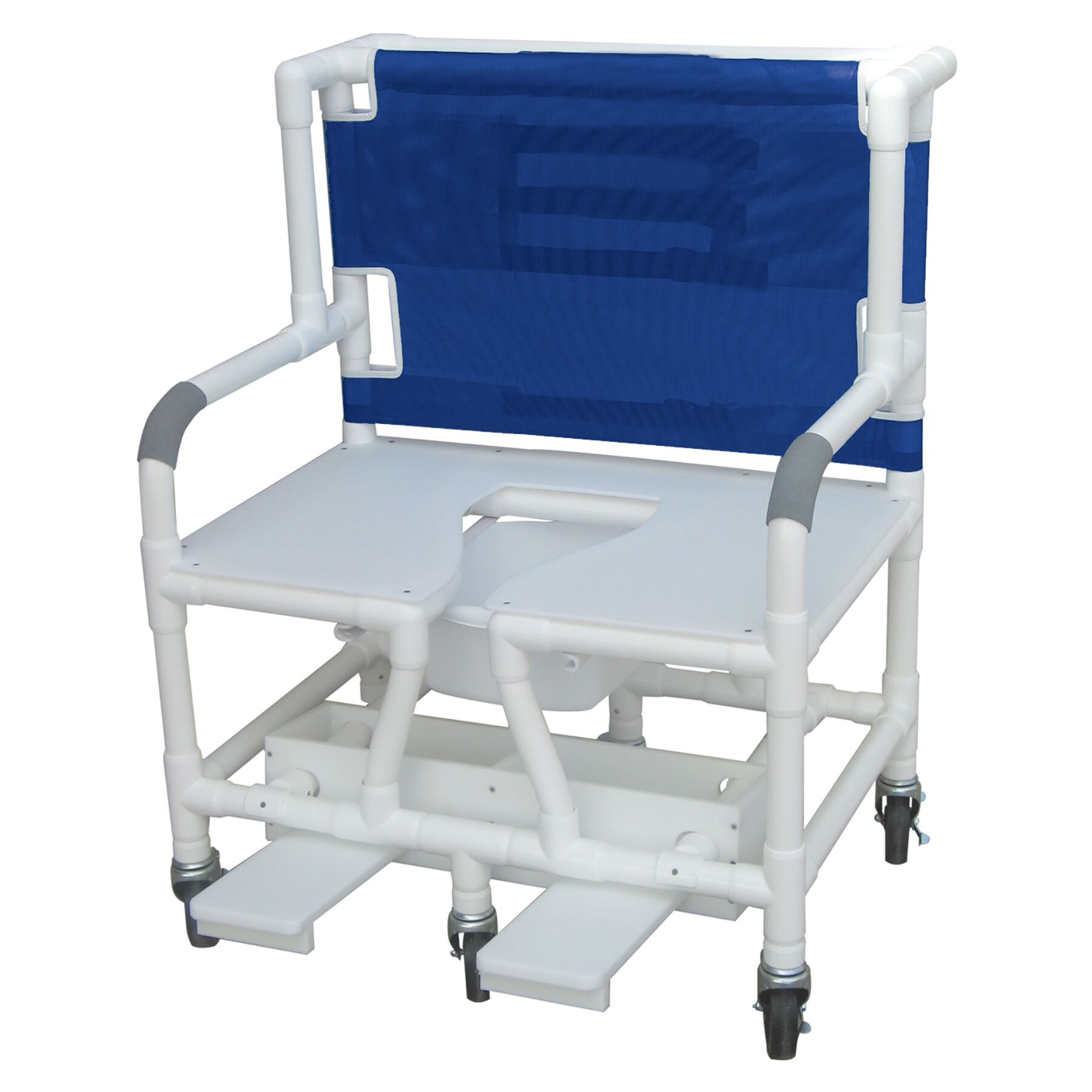 30″ Bariatric Shower Chair W/ Full Support Seat And Commode Opening