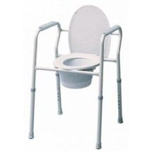 Graham-Field Commode Chair Fixed-Arm Steel Back