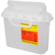Sharps Container 5.4qt Clear Counter Balanced Door,CASE OF 20