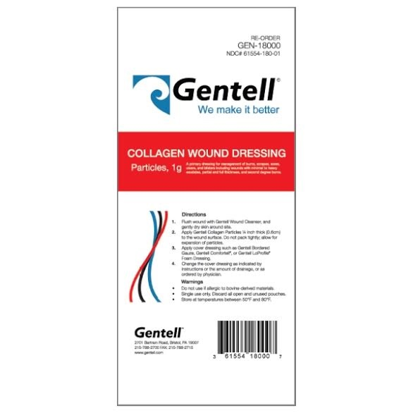 Collagen Wound Dressing Particles 1g, BOX OF 10