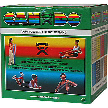 Low Powder Resistive Exercise 5″x50 Yards Bands, Green