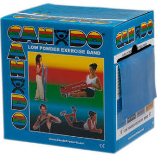 Low Powder Resistive Exercise 5″x50 Yards Bands, Blue