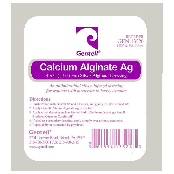 Calcium Alginate 4″x4″ Dressing With Silver, CASE OF 50
