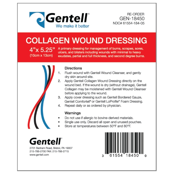 Collagen 4″x5″ Wound Dressing, BOX OF 10