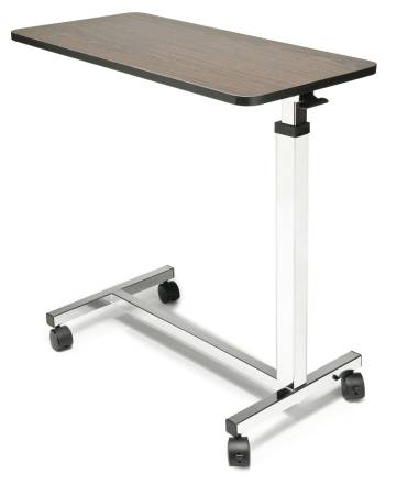 Lumex Over Bed Table, Non Tilt, Walnut Wood-Grain Top Supports 30lbs