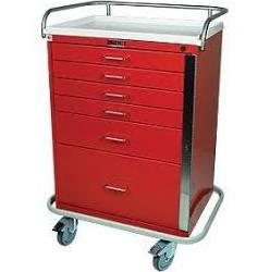 Classic Line, 6 Drawer, Emergency Cart, Specialty Accessory Pack