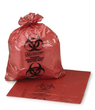 Ultra Tuff Infection Waste Bag, 11″x14″, BOX OF 50