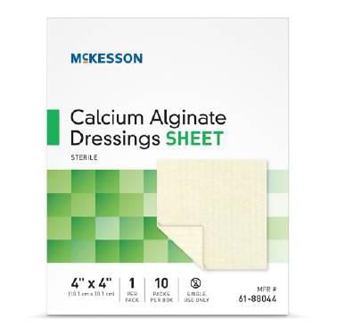 4″x4″ Calcium Alginate Square Dressing, BOX OF 10