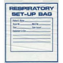 Draw String Plastic Respiratory Set-Up Bag, 12″x16″, CASE OF 500