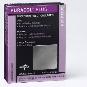 Puracol Collagen Dressing Plus,4″x4″,BOX OF 50