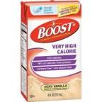 Boost Very High Calorie,Vanilla, Lactose Free,8oz,CASE OF 27