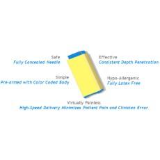 UltraLANCE Safety Lancets Vertex Yellow, 1.8MM 26g,100 Per Box,