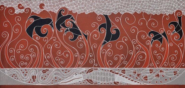 Billy Doolan, The Kanatgurk and the Crow (Fire Dreaming), 2009