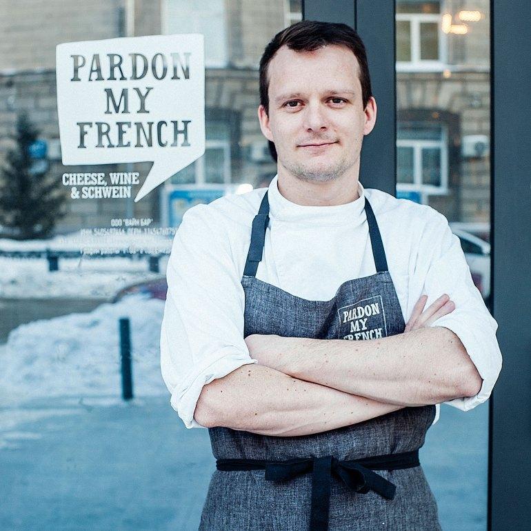 François Fournier, chef/owner of Pardon My French Wine Bar, Novosibirsk