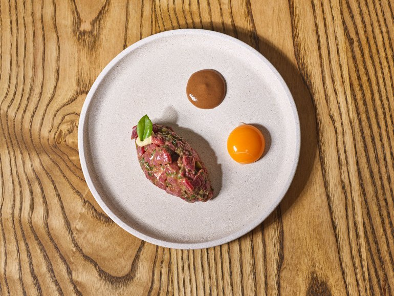 French Saloon's iconic Steak Tartar