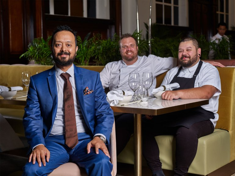 Donna Chang team, pictured from left: Shawn Gomes, General Manager; Jake Nicolson, Executive Chef and Jason Margaritis, Head Chef