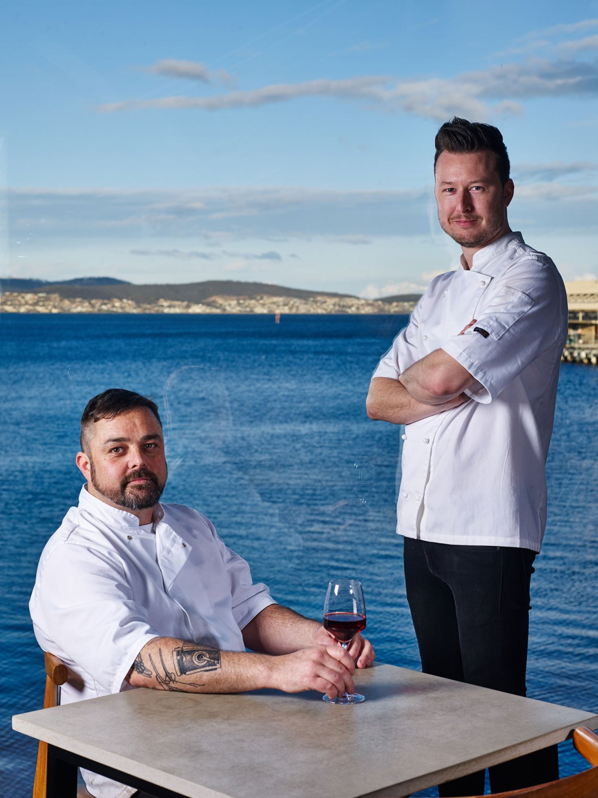 Chef/owner Christian Ryan (right) with Head Chef Glenn Byrnes (left)