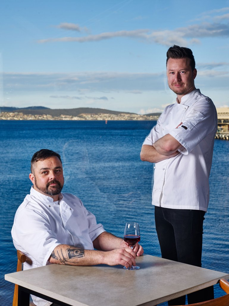 Chef/owner Christian Ryan (right) with Head Chef Glenn Byrnes (left)