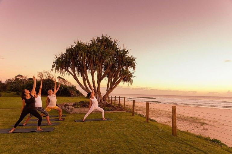 Rise and shine 6am Sunday morning with sunrise yoga in Byron Bay