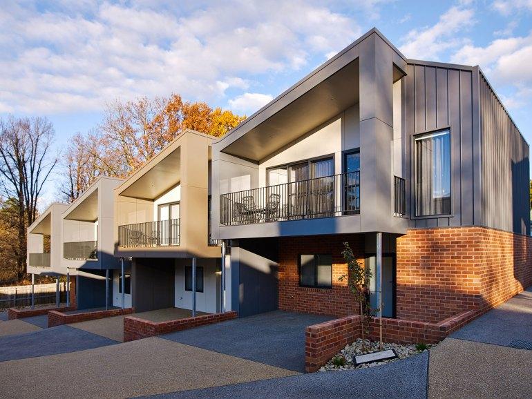 Exteriors evoke an ultra modern European urban appeal