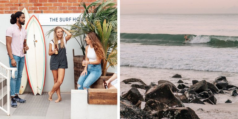 The Surf House is situated two streets back from Byron Bay's main beach