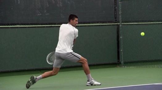 Novak Djokovic Backhand In Super Slow Motion 4 - Indian ...