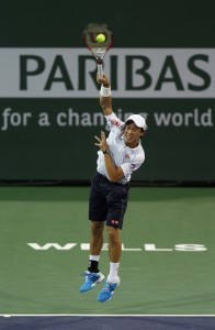 Nishikori serve contact