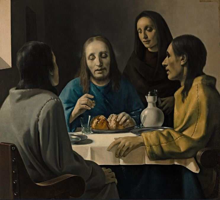 Christ at Emmaus, by van Meegeren