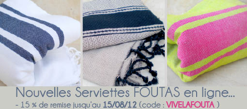serviettes fouta drap de plage pas cher le blog la vraie fouta tunisienne. Black Bedroom Furniture Sets. Home Design Ideas