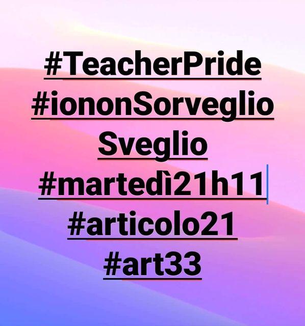 Teacher Pride #iononSorveglioSveglio. La FLC CGIL sostiene l'iniziativa promossa dai docenti del Liceo Anco Marzio di Ostia