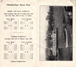 Vintage Essex-Charlotte ferry brochure